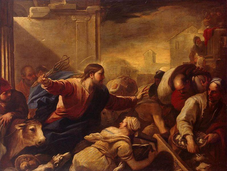 Luca Giordano - Vertreibung der Geldwechsler aus dem Tempel - 1675
