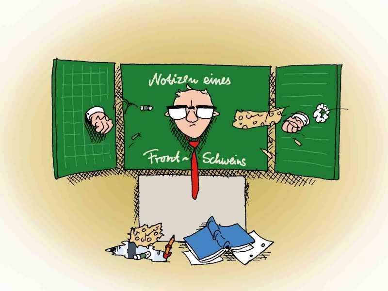 Notizen eines Frontschweins - Karikatur: Uli Queste