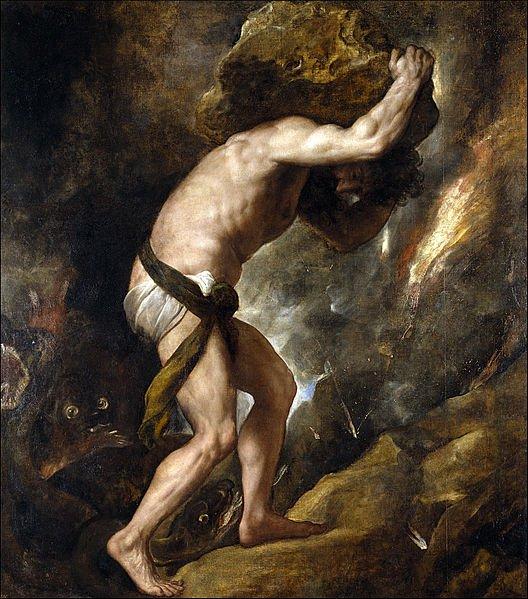 Titian Sysyphus Prado Museum